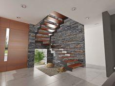 Corredores, halls e escadas modernos por Chazarreta-Tohus-Almendra