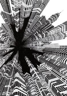 Focal Point | Josh Raymond (2012), black ink