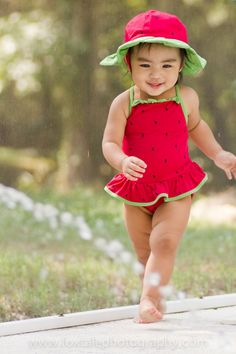 Watermelon swimsuit. So cute! photo by Wayne and Lucy Smith