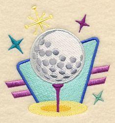 Retro Golf Ball design (L2769) from www.Emblibrary.com