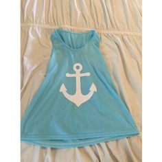 Blue Anchor Tank Top with Bow Accent on Back-New! Adorable anchor tank with super cute bow on back. Brand new, never worn! No tag, fits like a small/medium. Tops Tank Tops