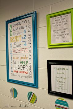 Free printables for classroom walls