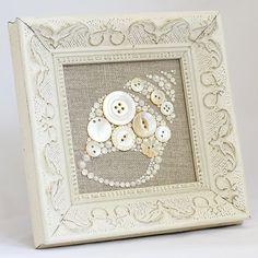 Seashell personalizado botón arte - madre de botones perla - Playa Casa Decor - concha del colgante de pared de arte - Casa de vacaciones costeras Decor