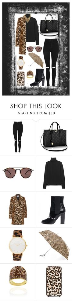 """Untitled #249"" by rockinstyles ❤ liked on Polyvore featuring Topshop, Oliver Peoples, MaxMara, InWear, Chanel, Larsson & Jennings, Totes, Glitzy Rocks and Kate Spade"