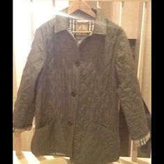 Burberry London quilted jacket Olive, light weight, size (10/12), length - mid/upper thigh Burberry Jackets & Coats