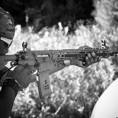 """Up and can't sleep... So that means you get a pic for the #BlackAndWhite challenge sans invite! PC: @forestcitytactical Pictured is my joint build rifle with @midwestindustries. #ValeryieTheValkyrie is one of my favorite rifles. #MidwestIndustries knows how to build serious rifles and chose some outstanding parts for this build. Like the @criterionbarrels 16"""" hybrid mid-length barrel. I'm not a fan of 16"""" barrels as most of my rifles are 14.5"""". However this barrel/rifle is damn near flawless…"""