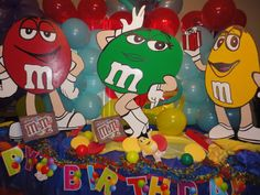 M & M Birthday Decorations.would like this for myself!
