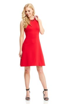 The Molly Fit Flare Red Main My Wardrobe Pee And