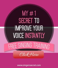 FREE video reveals my #1 secret to improve your voice instantly. Get results FAST! http://singerssecret.com/free #singing #singingtips #howtosing #music #singer #singinglessons
