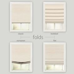 Decorating on a budget but want a designer look? Check out the Select Blinds Basic Solid Roman Shades. Available in four different roman shade fold styles. Window Treatments Living Room, Living Room Windows, Modern Window Treatments, House Blinds, Blinds For Windows, Shades For Windows, Window Blinds, Linen Roman Shades, Flat Roman Shades