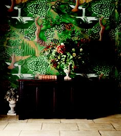 This Verdure wallpaper by Melissa White for Zoffany is digitally printed on 100 per cent linen.