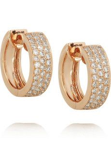 66133c9ca Anita Ko Huggie rose gold diamond earrings available at Single Stone on a  Mission Street