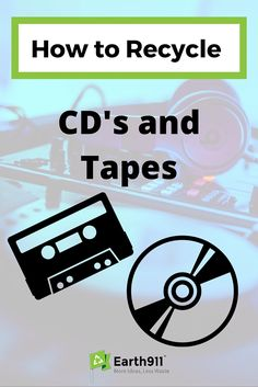 --Pin for Later-- I've been looking for a place to recycle CD's and Tapes forever. Thanks to Earth911's recycling search I finally found a place to take all my old CDs.