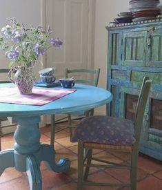 VINTAGE & CHIC: decoración vintage para tu casa · vintage home decor: Mesas de comedor de colores · Colorful dining tables