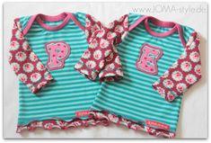 Viel zu früh haben die beiden neuen Besitzerinnen diese Shirts das Licht der Welt erblickt. In absoluter Mini-Größe habe ich diese Shirts genäht und selbst die sonst so kleinen Buchstaben wirken riesig auf den kleinen Baby-Shirts.Bis Morgen,Eure AnjaZutaten:Schnitt: Minikrea 10401, Gr. 50/56Jerseys: 'Tulip-Love' (Design: Miamaigrün) und Ringel von Lillestoff