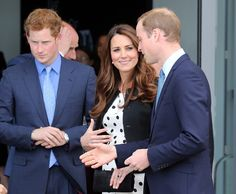 The Duke and Duchess of Cambridge and Prince Harry attend the launch of the Warner Bros Studios in Leavesden, Hertfordshire.