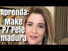 MAKE BÁSICA PARA PELE MADURA - YouTube Makeup Tips, Beauty Makeup, Hair Makeup, Hair Beauty, Maybelline, Santa Face, Jillian Michaels, Healthy Beauty, Ruby Rose