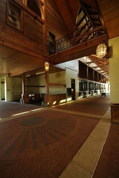 Is this a horse barn or a cathedral?...YES please. I will take one of these any day :)