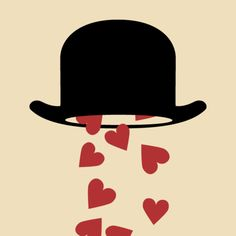 Magritte's hat for Artchipe #gif animado alucinante!
