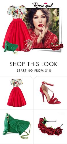 """""""Rosegal 39"""" by elenb ❤ liked on Polyvore featuring Post-It, Dolce&Gabbana, vintage, dress, women and rosegal"""