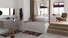 chambre en hauteur salle de bains en bas