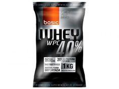 Whey Protein 40% 1kg Morango - Basic Nutrition com as melhores condições você encontra no Magazine Voceflavio. Confira!