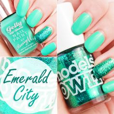 ! Mademoiselle Nostalgeek: [NOTD] Barry M. Green Berry et Models Own Emerald City
