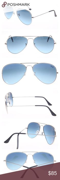 d9cb36e6f1 Ray-Ban Aviator Sunglasses Gold Blue Gradient Lens One of the most popular  sunglasses in