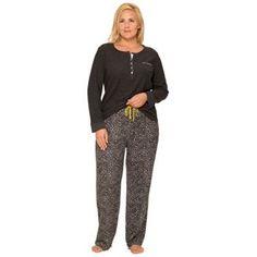 Plus Size Cuddl Duds Pajamas: Cabin Cozy Thermal Pajama Set