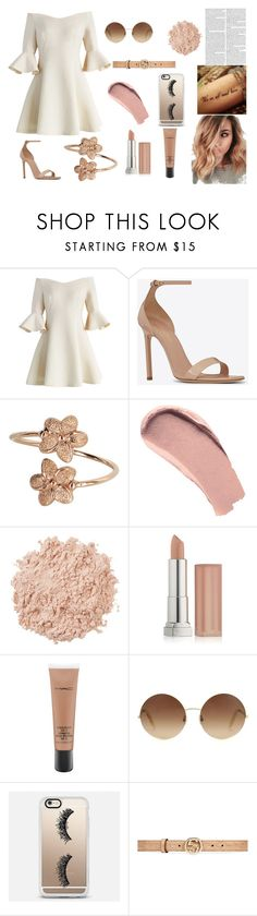 """""""·"""" by claudia23-cmlii on Polyvore featuring moda, Chicwish, Yves Saint Laurent, Burberry, La Mer, Maybelline, MAC Cosmetics, Victoria Beckham, Casetify y Gucci"""
