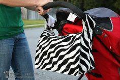 Tutorial: 2-in-1 stroller bag and messenger bag
