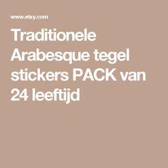 Traditionele Arabesque tegel stickers PACK van 24 leeftijd