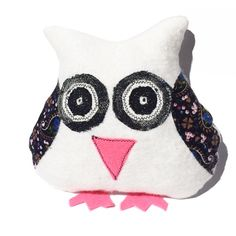 White Paisley Mintchi Owl