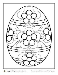 ornate easter egg coloring page - Egg Coloring Sheet