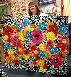 Yup, that's Freddy Moran! She came to the Seattle area and taught a weekend workshop at Aunt Mary's Quilt Shop. Here she is sh...