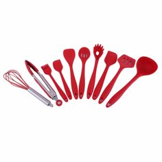 10Pcs/Set Home Kitchen Silicone Cooking Utensil Set High Temperature Resistant Kitchen Tool Set Cooking Tools