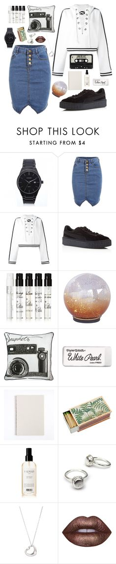 """""""Roman Holiday"""" by anishagarner ❤ liked on Polyvore featuring Curren, Puma, Kilian, Pier 1 Imports, Graham & Brown, Paper Mate, Shandell's, Balmain, Tiffany & Co. and Lime Crime"""