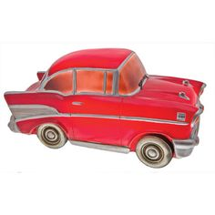 Red Chevrolet Table Lamp