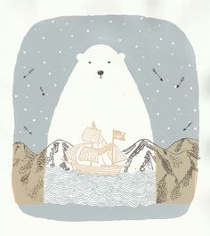 TEHEHEHEHE i secretly love this. | polar bear illustration