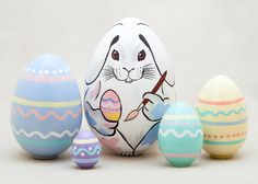 Easter Bunny Nesting Egg 5pc./4""