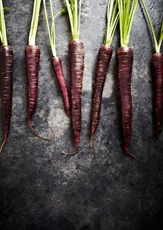 Blood carrots. They sell a wonderful multi-color carrot package at Trader Joe's that contains these beauties.
