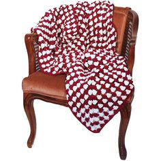 Kalee Michele Maroon & White Crochet Blanket (300 CAD) ❤ liked on Polyvore featuring home, bed & bath, bedding, blankets, white blanket, burgundy bedding, light weight blankets, lightweight blanket and maroon bedding