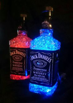 Upcycled jack daniels crystalgellamp 750ml par Crystalgellamps Plus