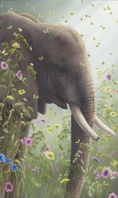 """Robert Bissell's Incredible New Painting """"The Presence (Elephant)"""""""