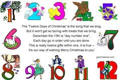 12 Days of Christmas Poems for small gifts to give