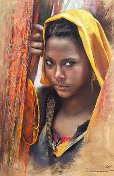 Javad Soleimanpour Black Women Art, Black Art, Hyper Realistic Paintings, Arabian Art, African Paintings, Oil Pastel Art, Pastel Portraits, Mystique, Portrait Art