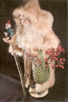 Gorgeous fur candy container Santa!