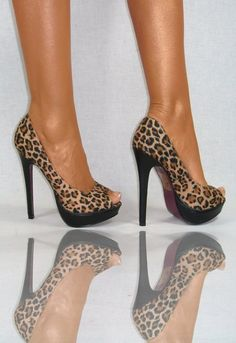 im not really a wild-animal-pattern person, but if I ever needed or desired leopard printed heels, they would be these ones.