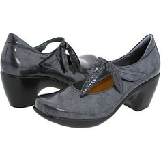 Beautiful shoes. Grey patent? fabulous.  And the most comfortable brand on the planet.  Naot.