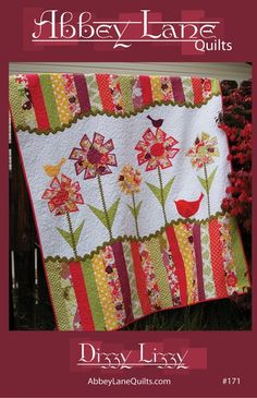 Dizzy Lizzy Quilt Quilting Pattern, Use Fat Quarters From Abbey Lane Quilts Quilt Square Patterns, Applique Quilt Patterns, Modern Quilt Patterns, Patchwork Patterns, Sewing Patterns, Embroidery Patterns, Patchwork Ideas, Crazy Patchwork, Applique Ideas